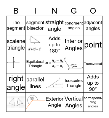 GEOMETRY BINGO Card