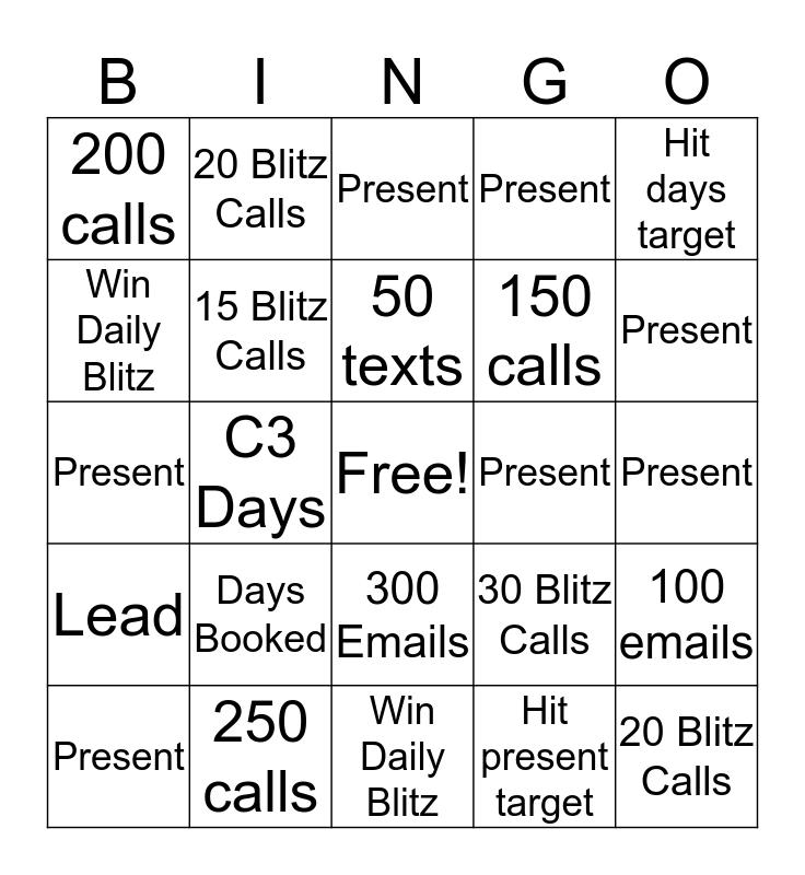 Blitz Bingo (PR) Bingo Card
