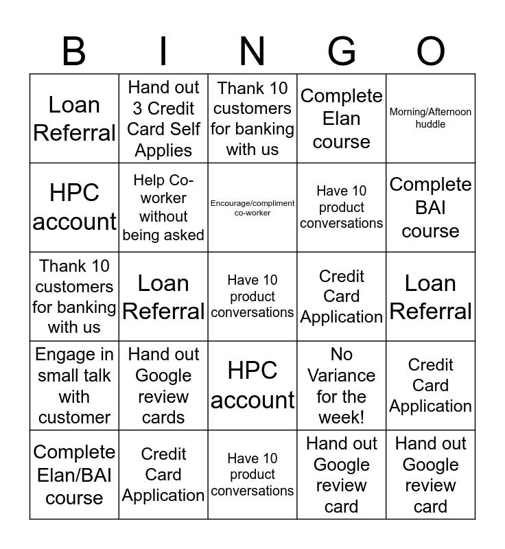Moorland In-Store Bingo Card