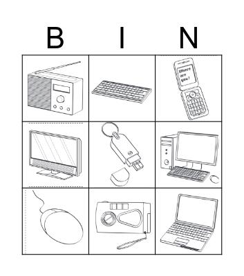 Technology! Bingo Card