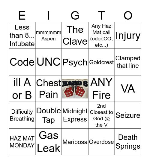 Hard 8 Bingo Card