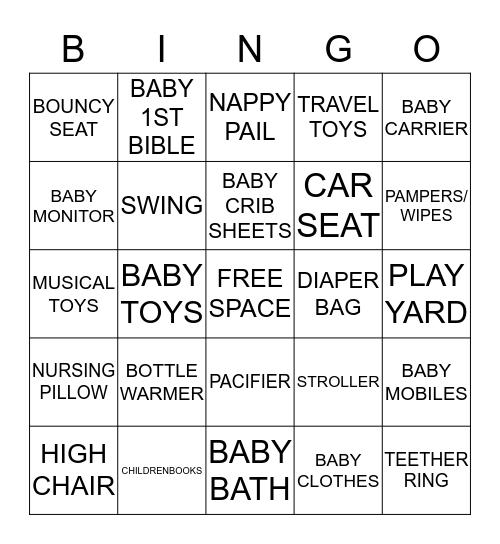 Baby Gift Idea Bingo Card