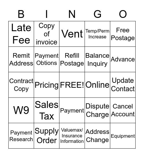 Fun in July  Bingo Card