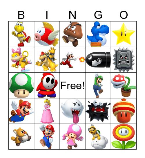 Super Mario Bingo Card