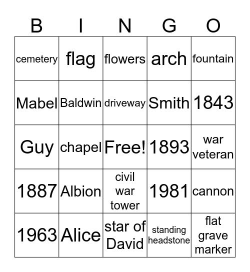 Full Cover Bingo Card