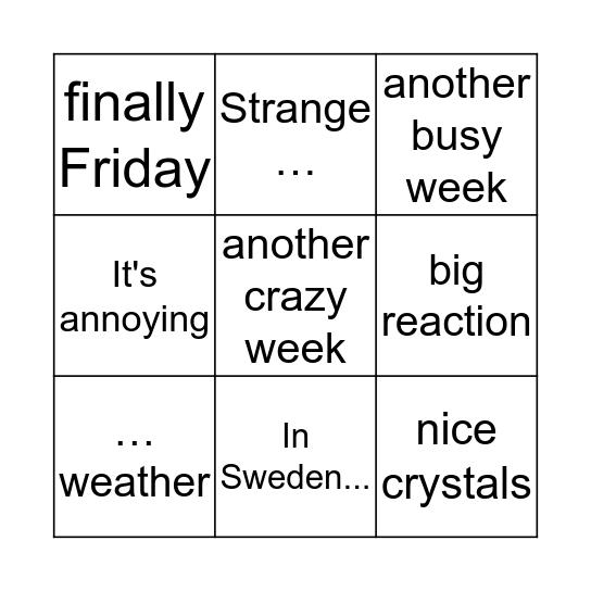 Da Bingo Card