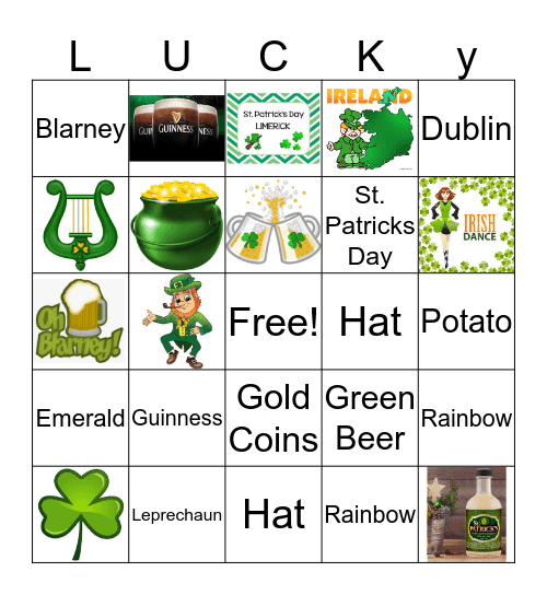 St. Pats Bingo Card