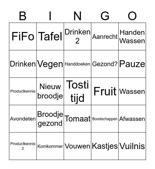 Kantine stage Bingo Card