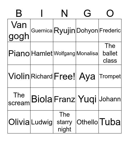 @jiwooys Bingo Card