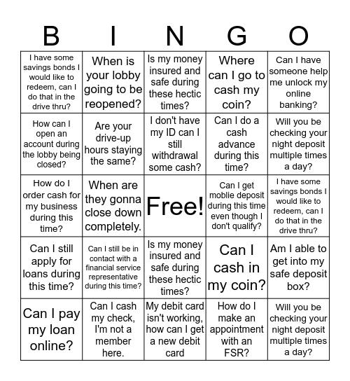 Quarantine Bingo  Bingo Card
