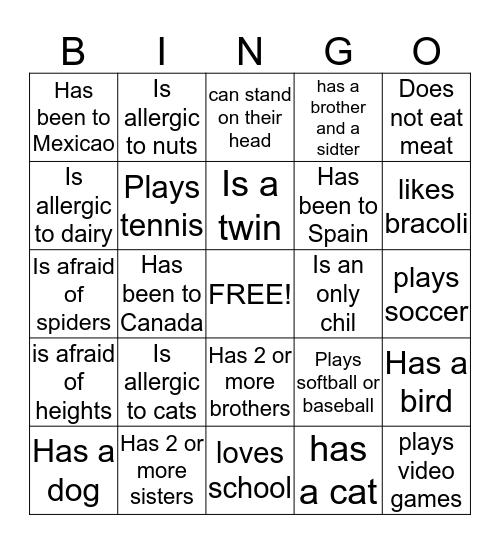 Summer Program 2014 Bingo Card