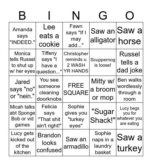 Greyfield Bingo - COVID 19 Shut Down Edition Bingo Card