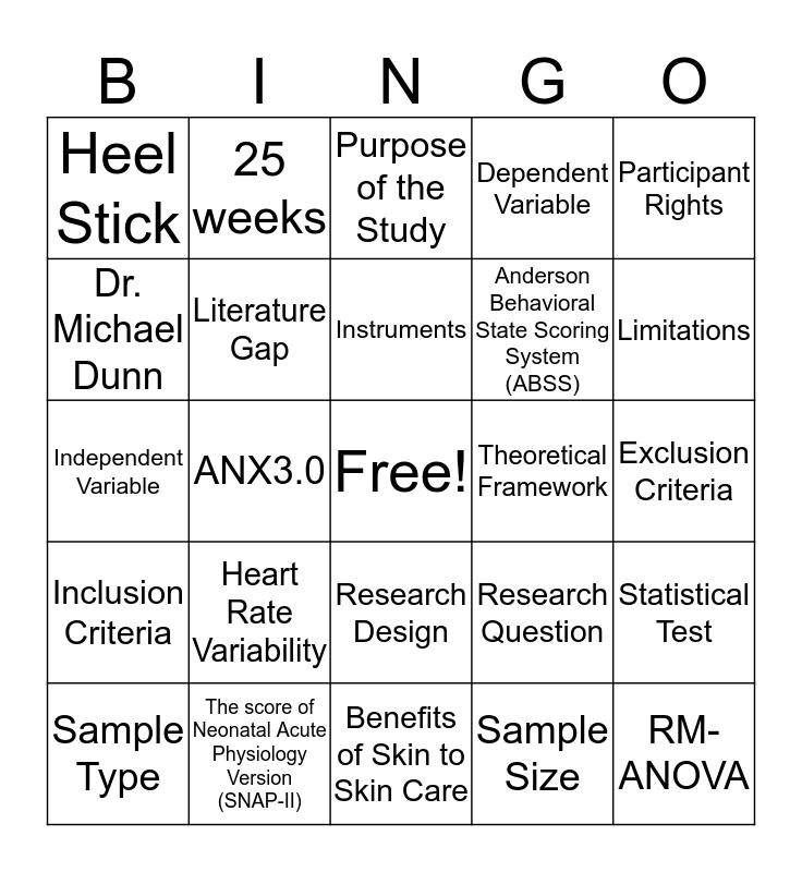 Kangaroo Bingo  Bingo Card