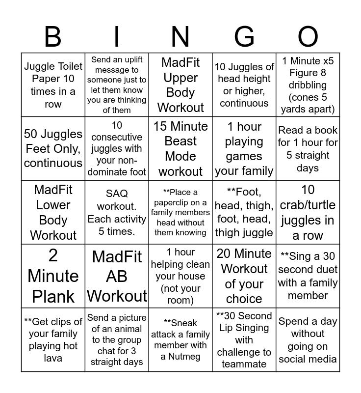 04G Red 1 Bingo Challenge Bingo Card