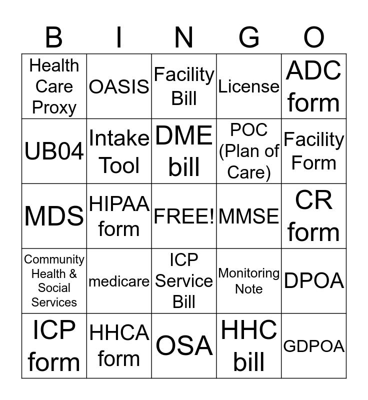 DOCUMENTATION Bingo Card