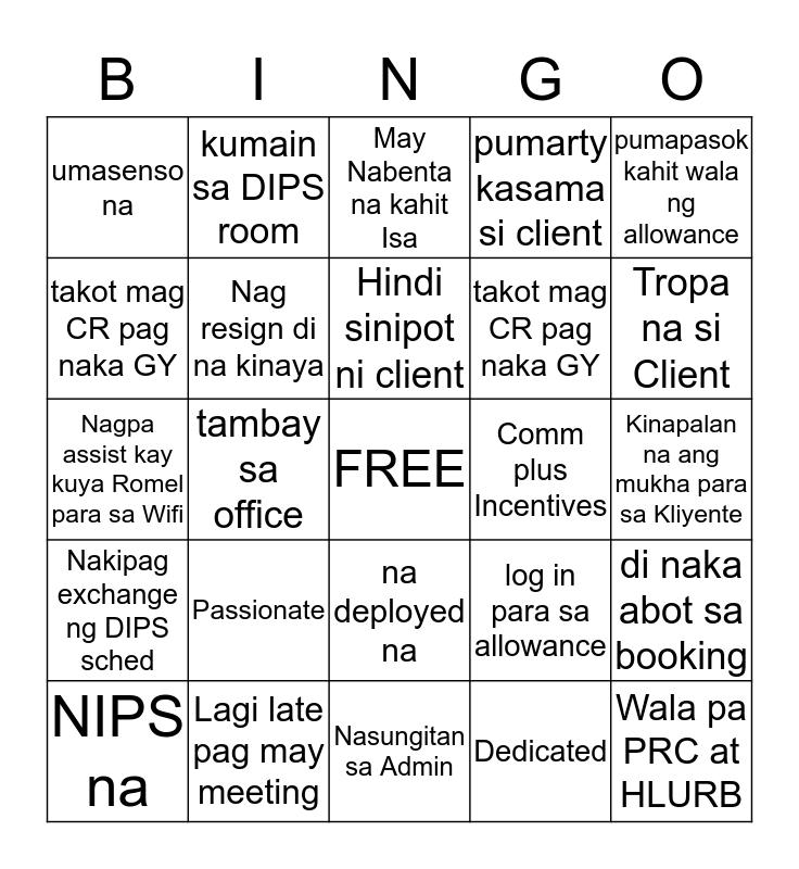 ALISI NATION Bingo Card