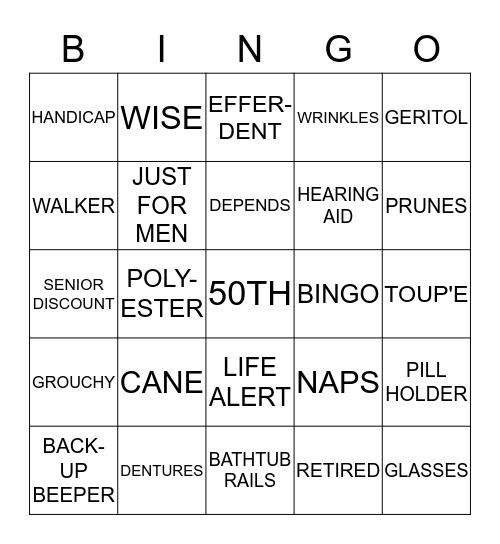 HAPPY 50TH BIRTHDAY STEVE Bingo Card