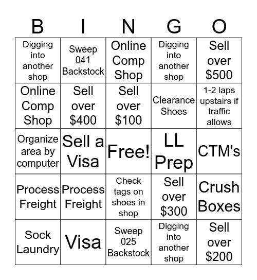 SSM Bingo Card