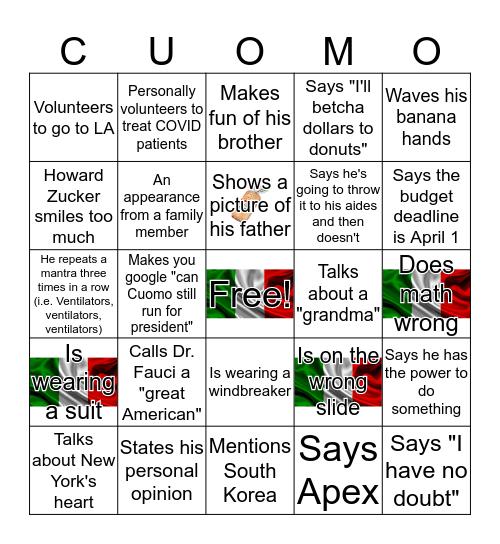 CUOMO Bingo Card