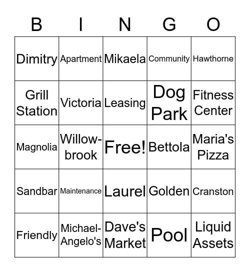 QUARANTINGO Bingo Card