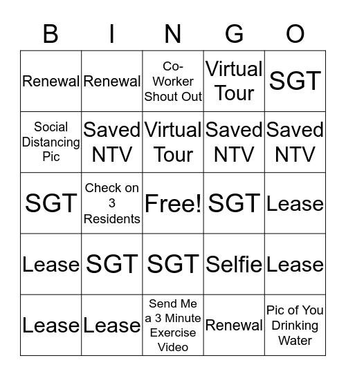 UDR Bingo Card
