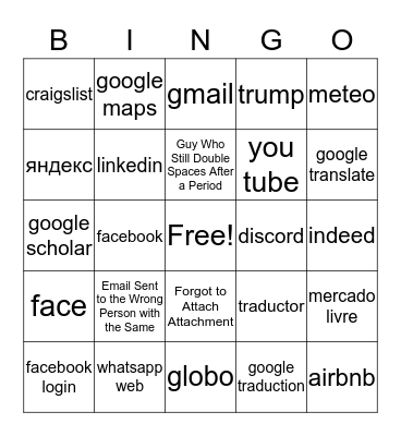 Office Email Bingo Card
