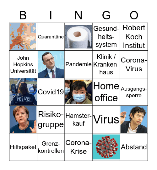 Das Corona-Bingo Card