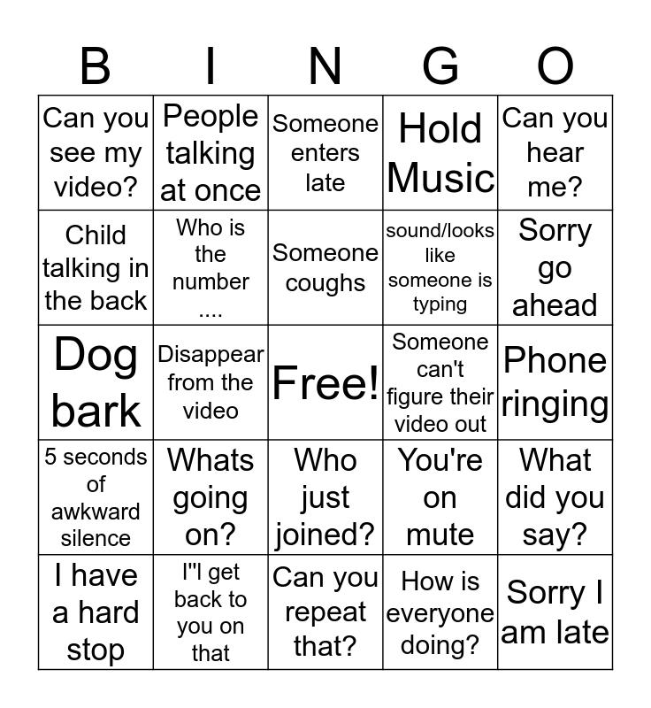 SNE Bingo Card