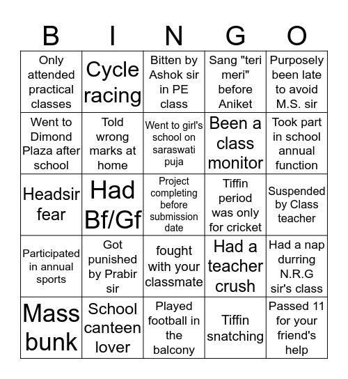 DDKKHA Bingo Card