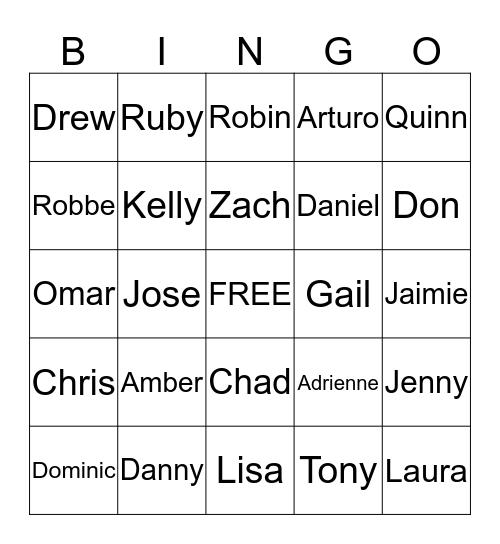 Anchor Bingo Card