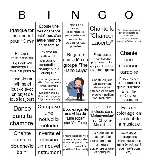 Mon bingo musical Bingo Card