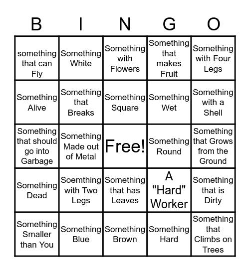 Let's Take it Outside! Bingo Card