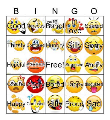 Feelings Bingo Card