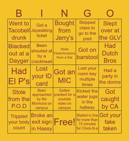 ASU Freshman Bingo😭😂 Bingo Card