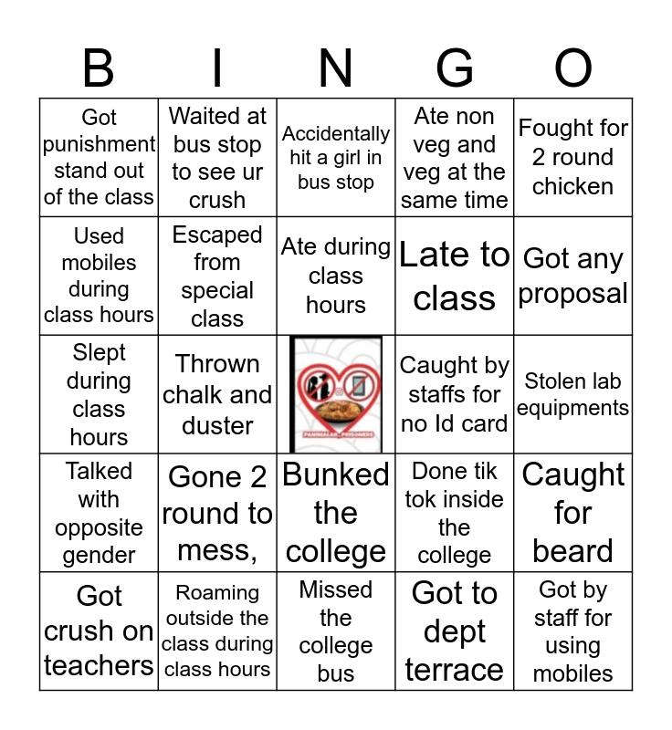 Panimalar prisoners Bingo Card