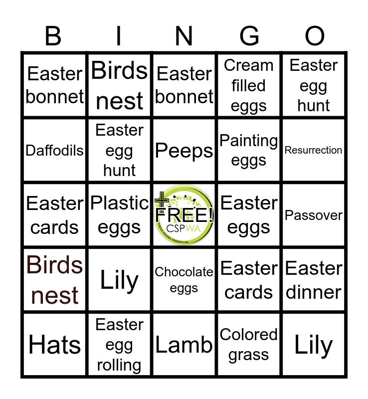 CSP WA Bingo Card
