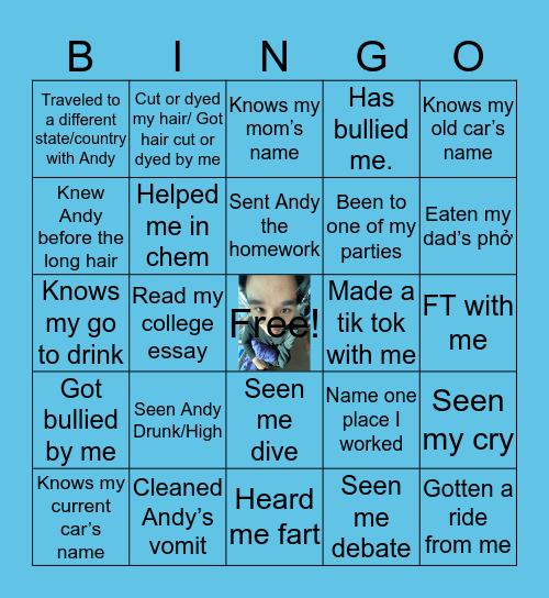 Andy Bingo Card