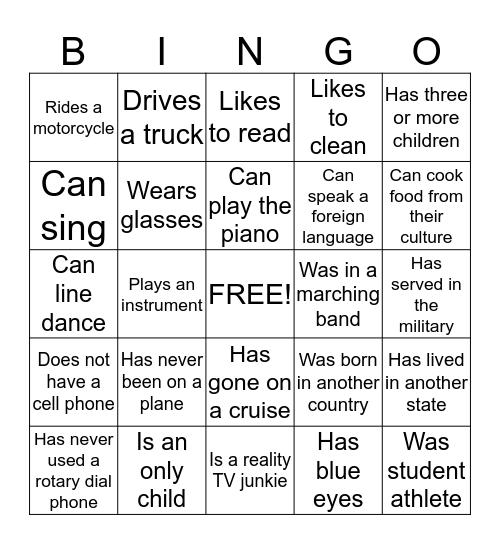 DeCA Team Bingo Card