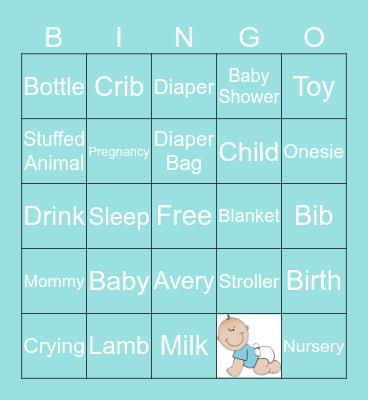 CLAIRE'S BABY BINGO Card