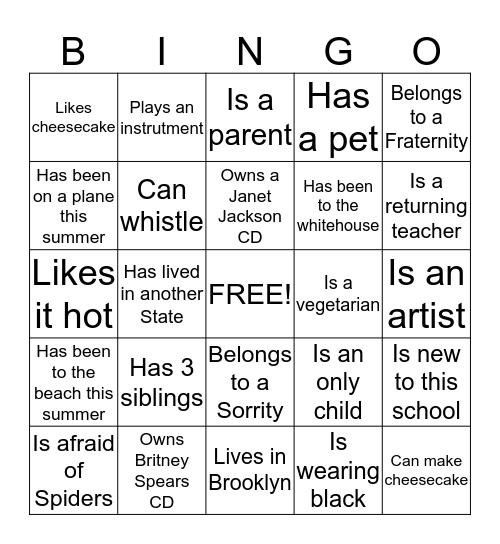 HUM III Bingo Card