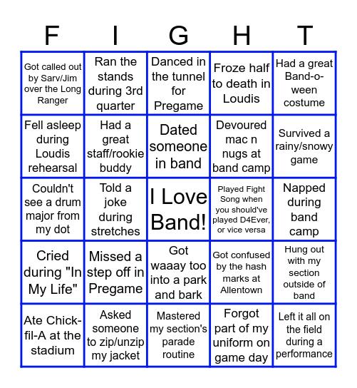 UDMB Member Bingo Card