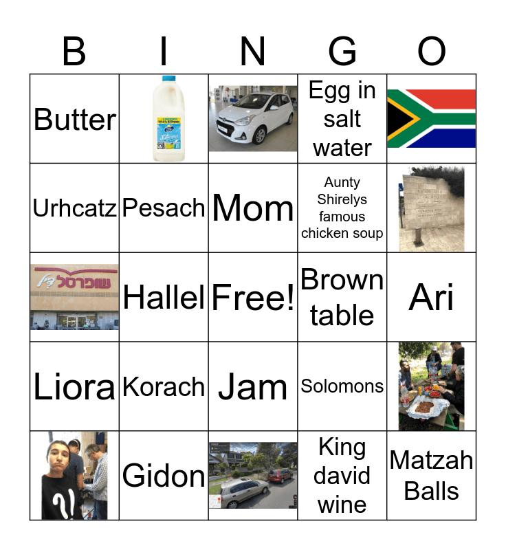 Pesach Bingo Card