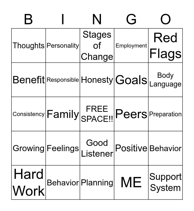 CHANGE Bingo Card