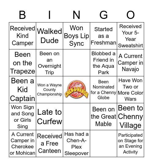 Camp Chen-A-Wanda Bingo Card