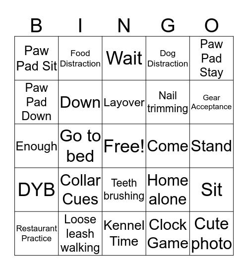 GDB Bingo Card