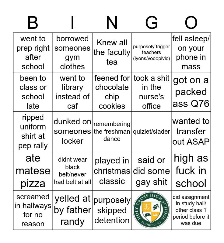 Cross Bingo Card