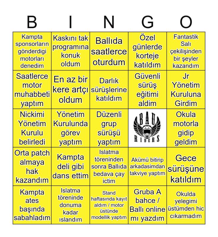 BAURIDERS 🏍 Bingo Card