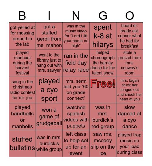 SHS Bingo (Class of '17) Bingo Card