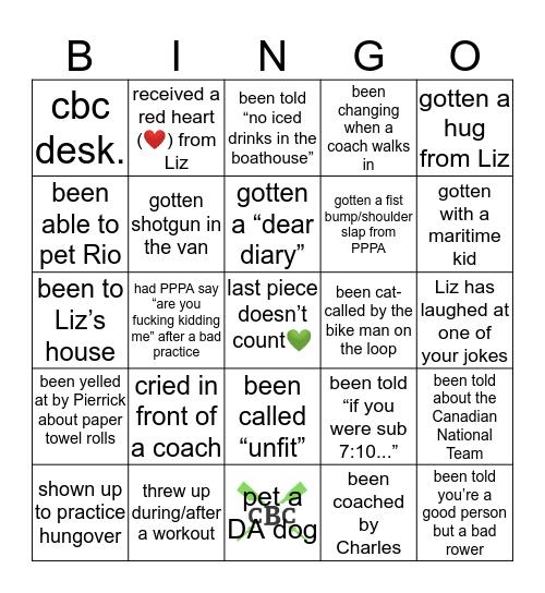 CBC Bingo Card