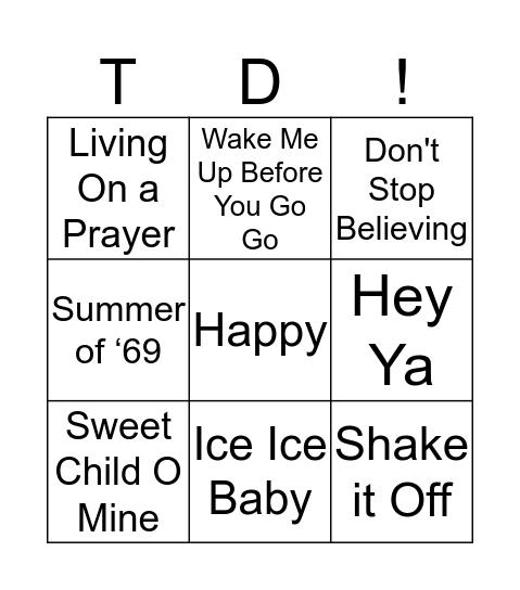 Singo! Bingo Card